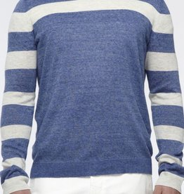 Vince Heathered Linen Striped Sweater