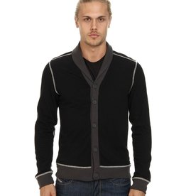 Howe Radio Rage contrast trim & stitching button front shawl collar cardigan