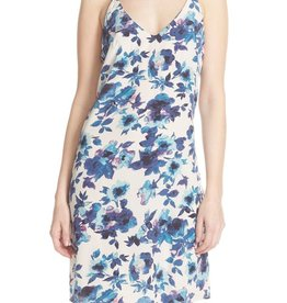 "Charlie Jade <li>Color: Blue<br /><li>All over floral print<br /><li>Slips on over head<br /><li>V neckline<br /><li>Sleeveless<br /><li>Lightweight, nonstretch silk<br /><li>37 1/2"" length (size Medium)<br /><li>Fully lined<br /><li>100% silk<br /><li>Dry clean only<br /><li>Made in China"