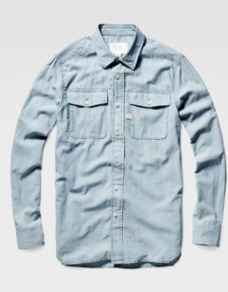 G-Star Landoh Army Lightweight Torg Chambray Pocket Dress Shirt