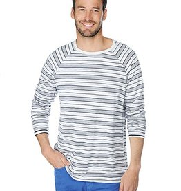 Splendid Willis Stripe Jersey - Brooks reversible lslv crew neck top