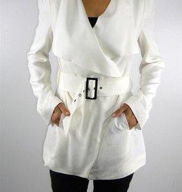 Stella & Jamie Sierra drapey open front pocket jacket w/belt