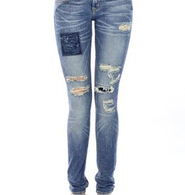 Jet by John Eshaya Thrashed Patch Jean