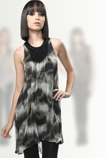 Greylin Eliza Ikat embellised trapeze dress w/pockets