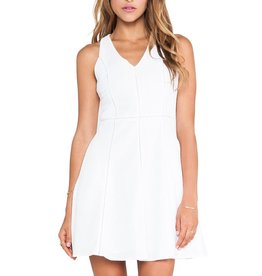 Greylin Patricia embroidered cotton v-neck slvls back cutout fit-n-flare dress