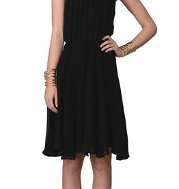 Greylin Lucy lattice cutout boatneck slvls drawstring waist dress