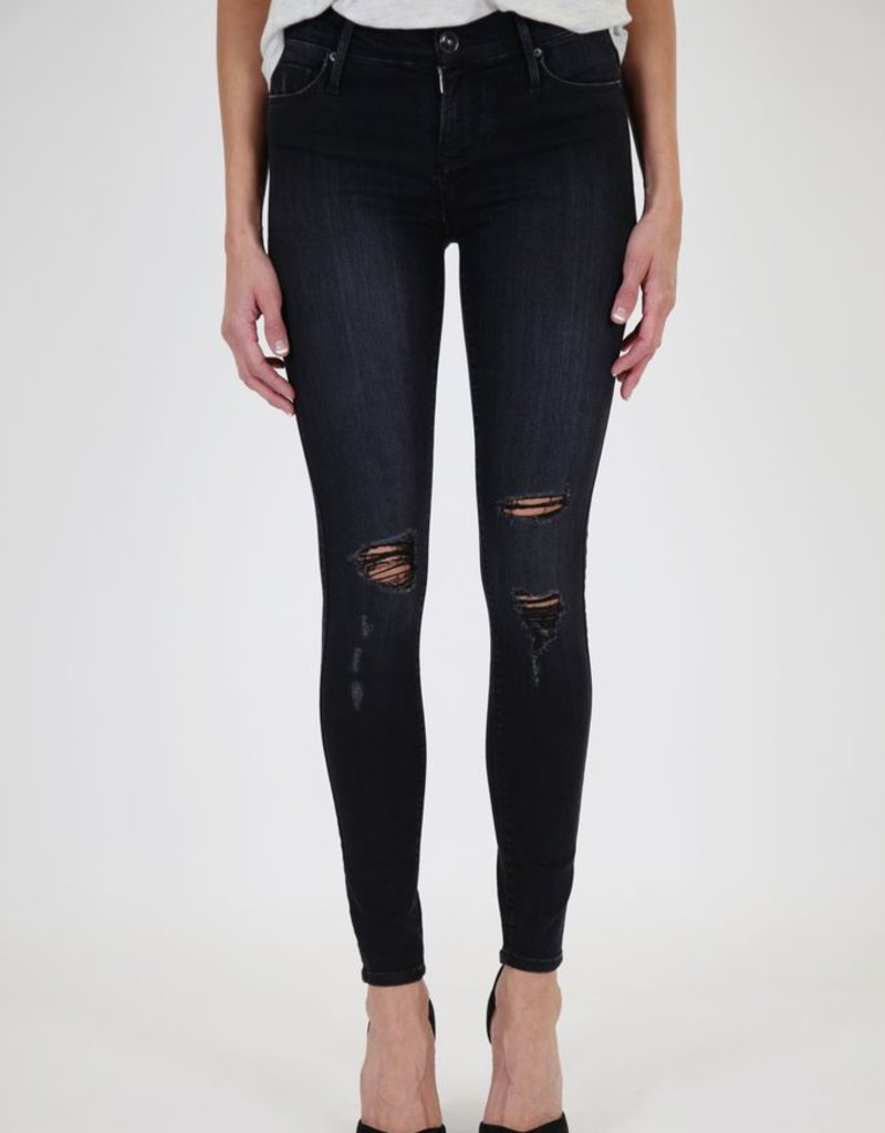 Black Orchid Noah Size 25 distressed mid rise super skinny