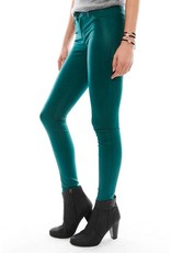 J Brand 815 coated mid-rise super skinny