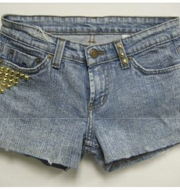 Jet by John Eshaya Studded Shorts