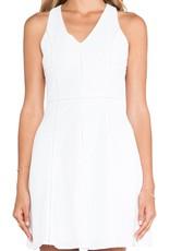 Greylin Patricia embroidered cotton v-neck slvls back cutout fit-n-flare dress