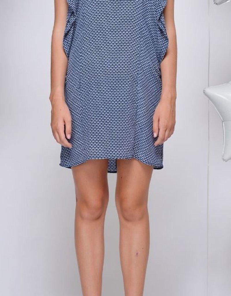 Greylin Rita Silk Flounce Dress