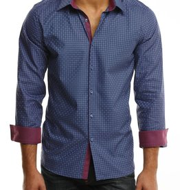 Stone Rose Geometric Dress Shirt