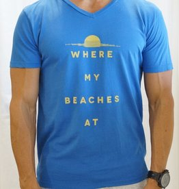 Kinetix Where My Beaches At v-neck sslv tee