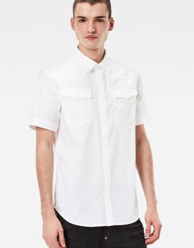 G-Star 3301 Slim Twin Flap Pockets S/S Dress Shirt
