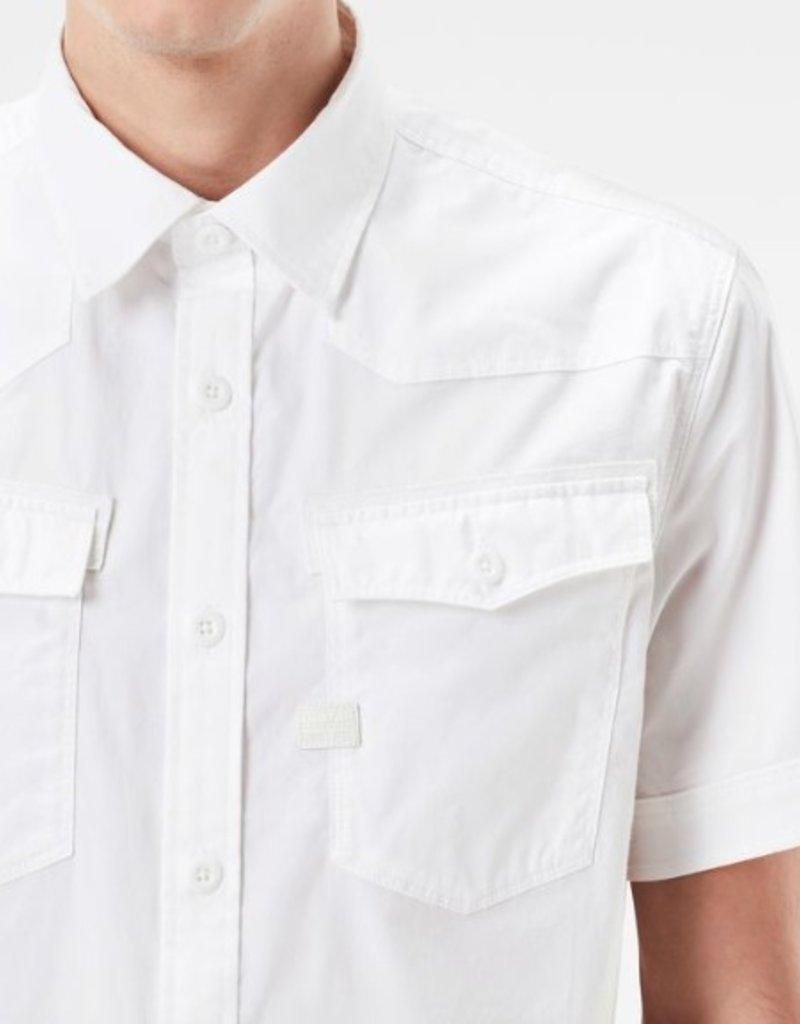 G-Star 3301 Slim Twin Flap Pockets Short Sleeve Dress Shirt