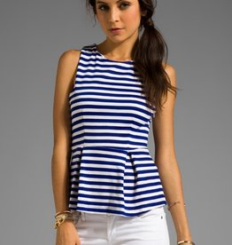 Eight Sixty Stripe Peplum Top