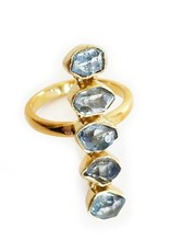 Elizabeth Stone Herkimer Ring GOLD,