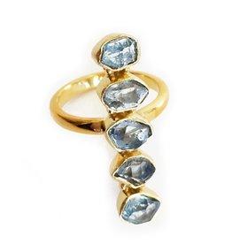 Elizabeth Stone Herkimer Ring GOLD