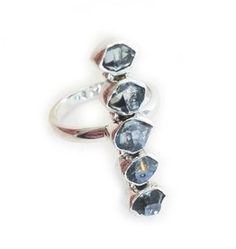 Elizabeth Stone Herkimer Ring SILVER