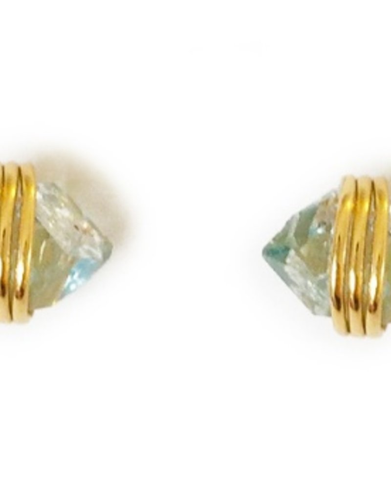 Elizabeth Stone Herkimer Studs-GOLD
