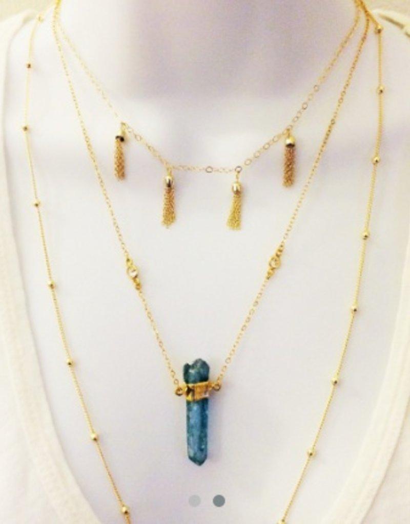 Elizabeth Stone Mini Tassel Necklace