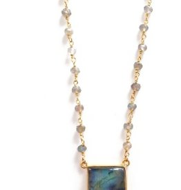 Elizabeth Stone Gemstone Horn Necklace