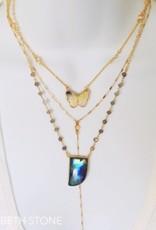 Elizabeth Stone Gemstone Horn Necklace