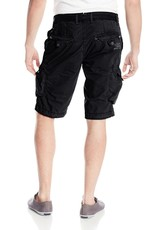 Jetlag Jakarta denim waistband cargo zip & button flap pockets 1/2 short