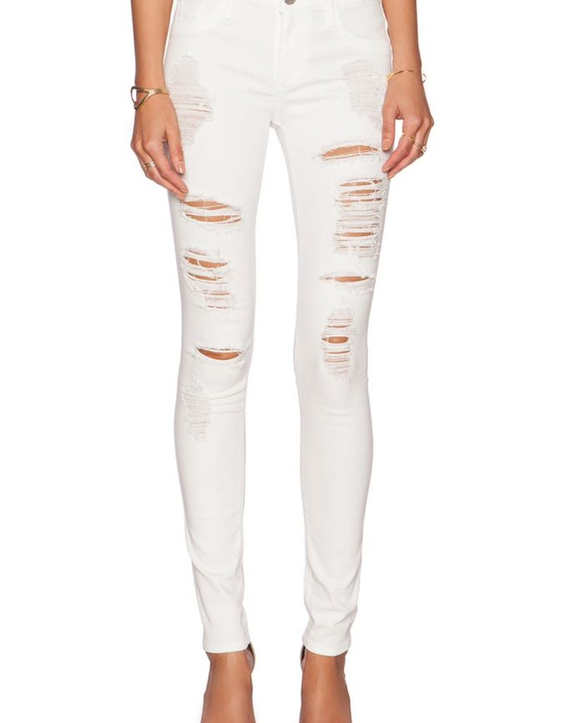 Black Orchid Jude Distressed Mid Rise Super Skinny