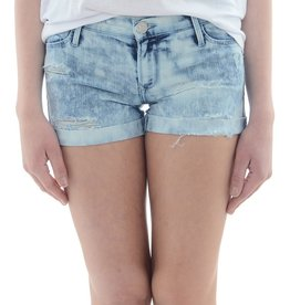 Black Orchid Roll Up Distressed Short