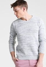 Casual Friday Melange Pullover Crew Neck Long Sleeve Knit Sweater
