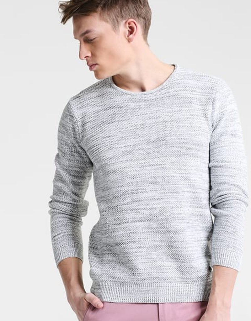 Casual Friday Melange Pullover Crew Neck L/S Knit Sweater