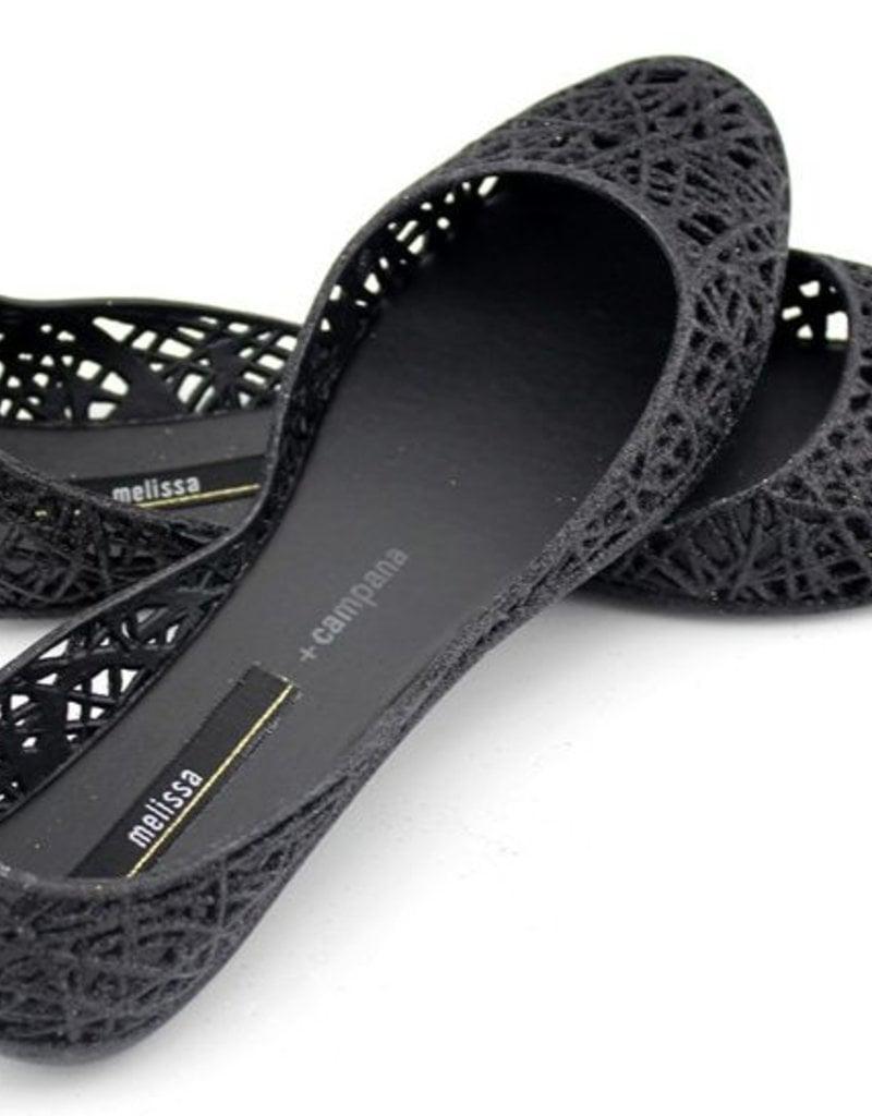 NWT MINI MELISSA Campana Zig Zag VI Mary Jane Flat Sandal Glitter Pink 31510
