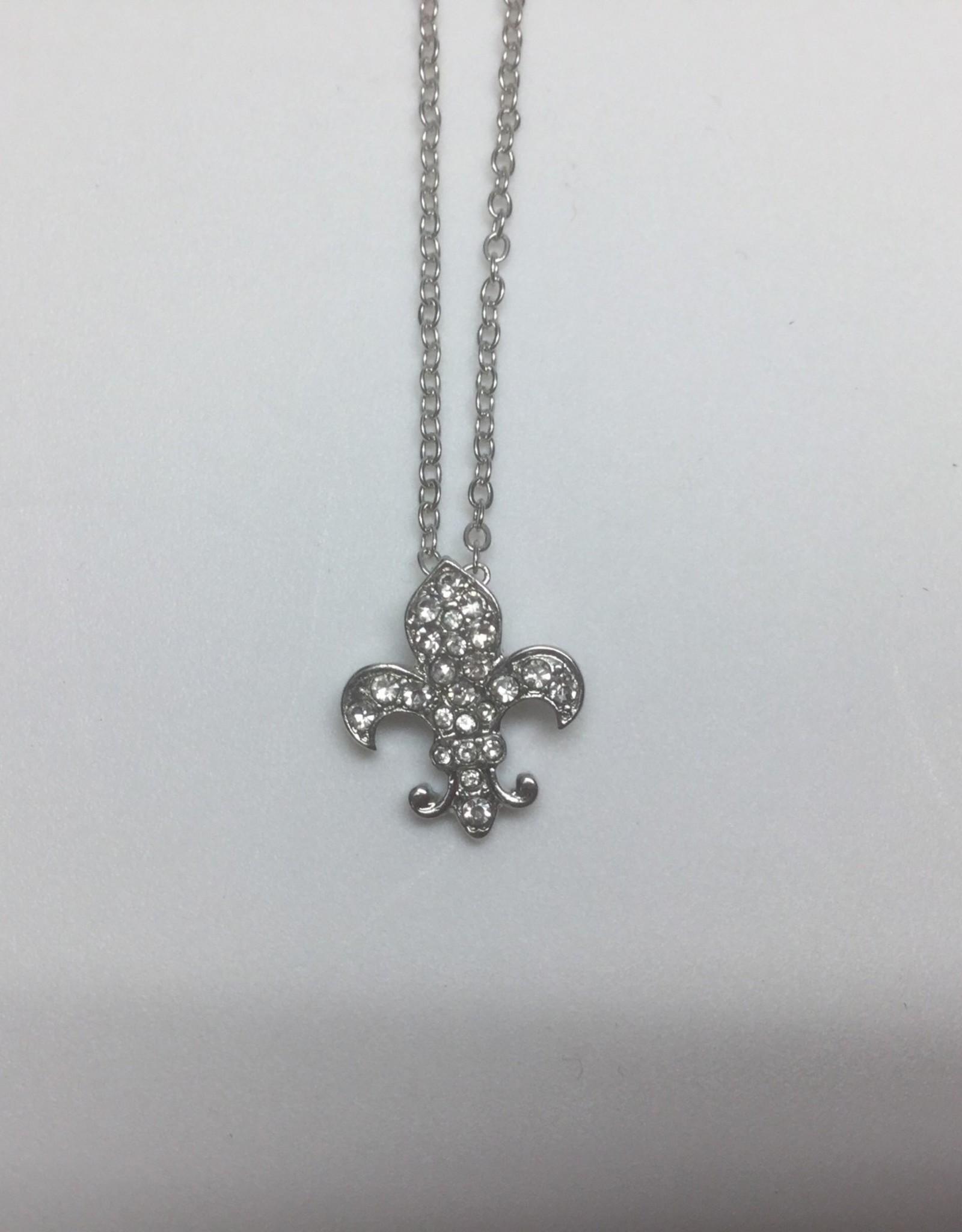 FDL Medium Rhinestone Necklace