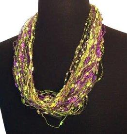 Mardi Gras Confetti Magnetic Necklace