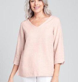 Flax Flax V Pullover - Linen Shirt Blush