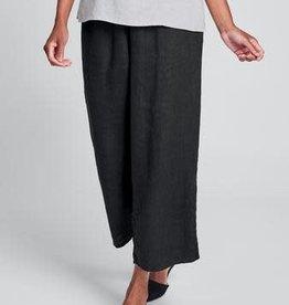 Flax Flax Linen  Floods - Linen Pant  Black
