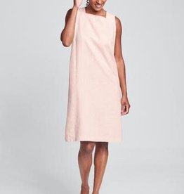 Flax Flax Square Neck Linen Dress Blush