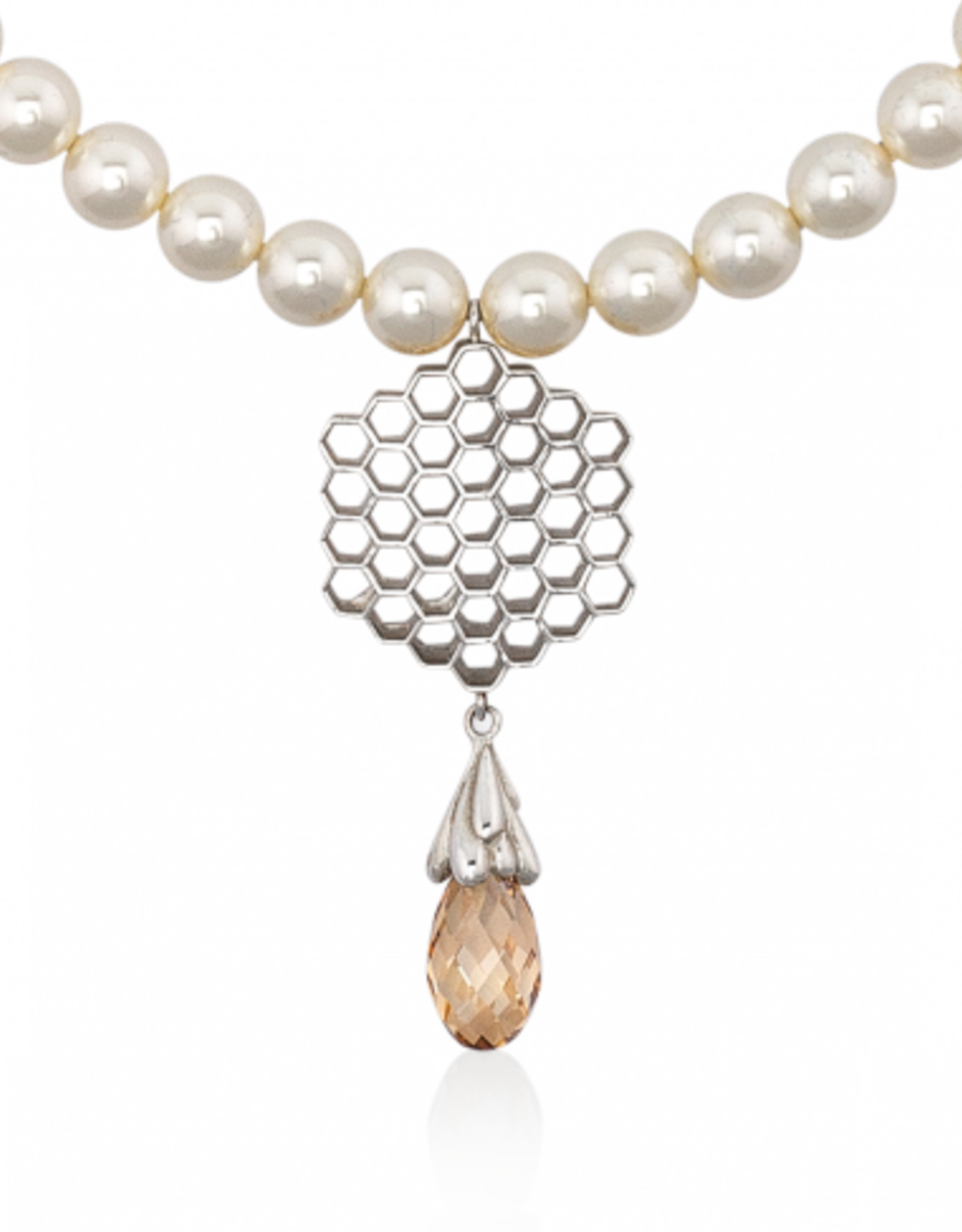 Mignon Faget Mignon Faget Honey Drop Swarovski Pearl Necklace