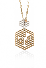 Mignon Faget Mignon Faget Hive Honeycomb Bronze Pendant