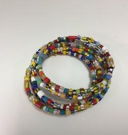 Kairos10 Tiny Trade Bead Coil Bracelet