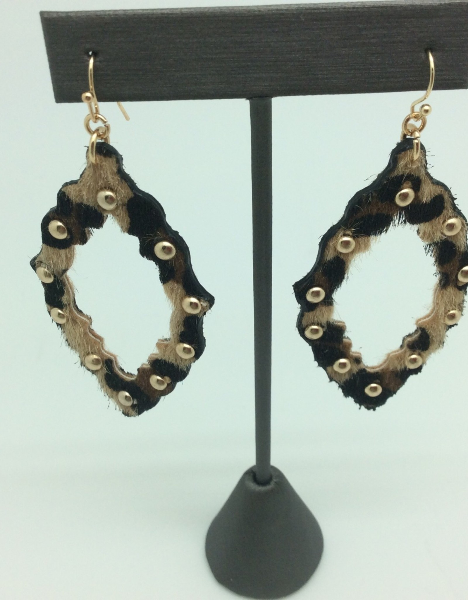 Leopard With Studs Dangles