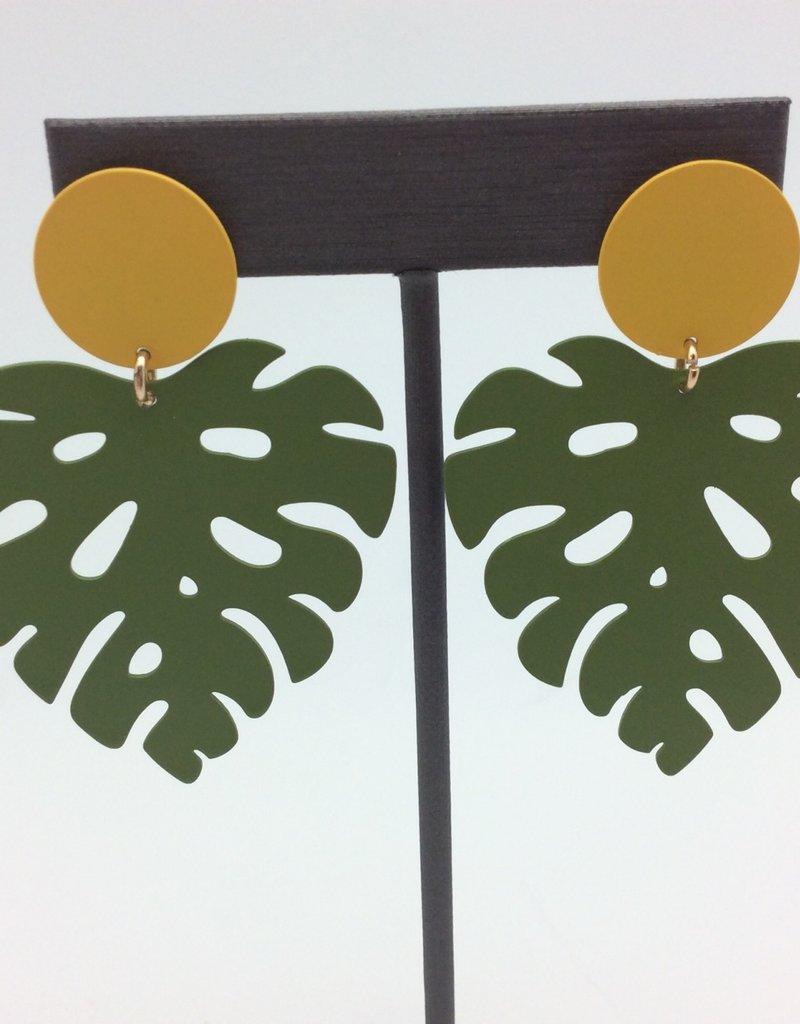 Metal Leaf Earrings
