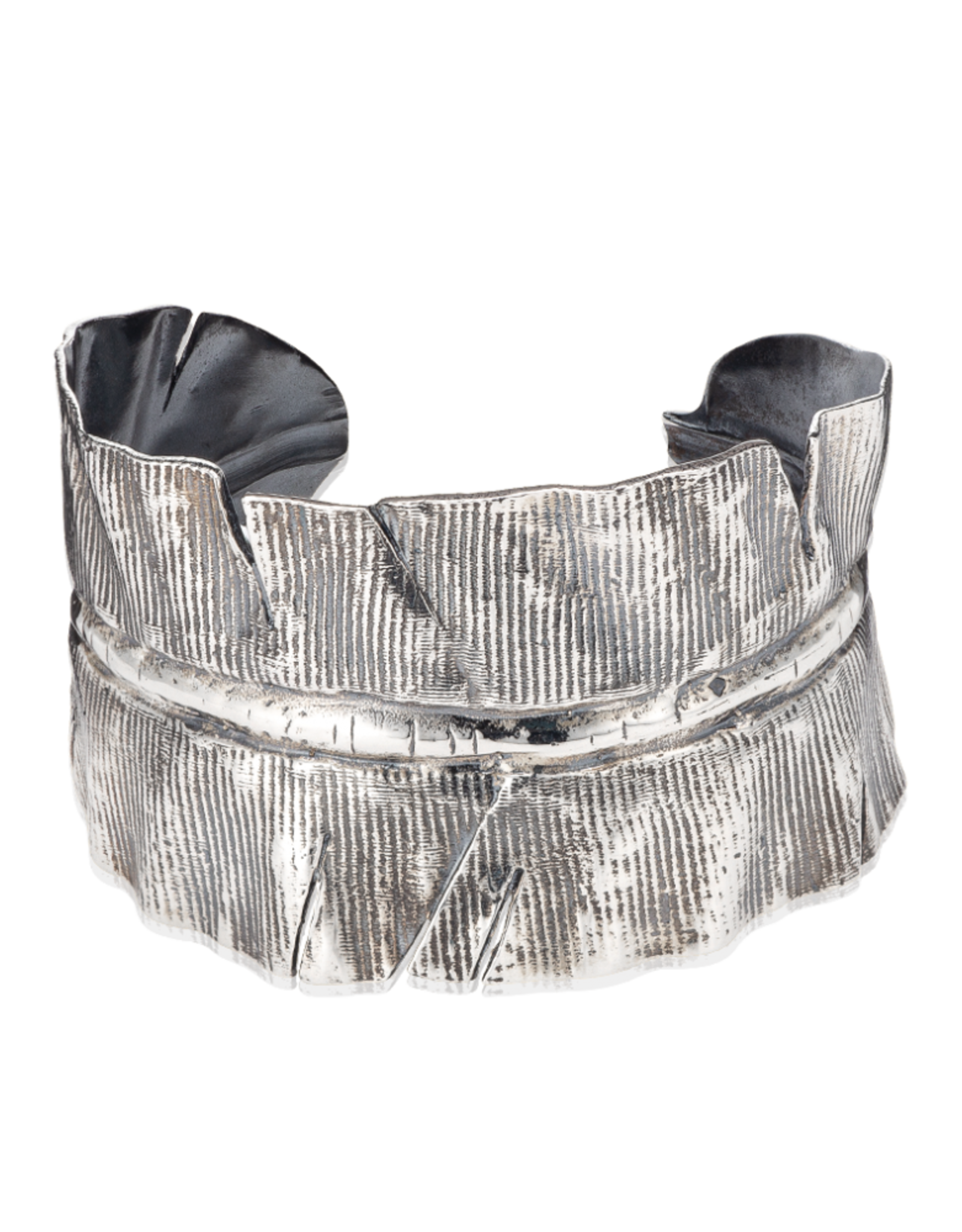 Mignon Faget Mignon Faget Banana Leaf Cuff Sterling
