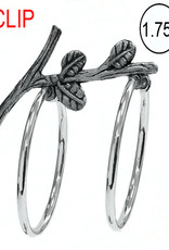 Silver Tone Clip Hoops