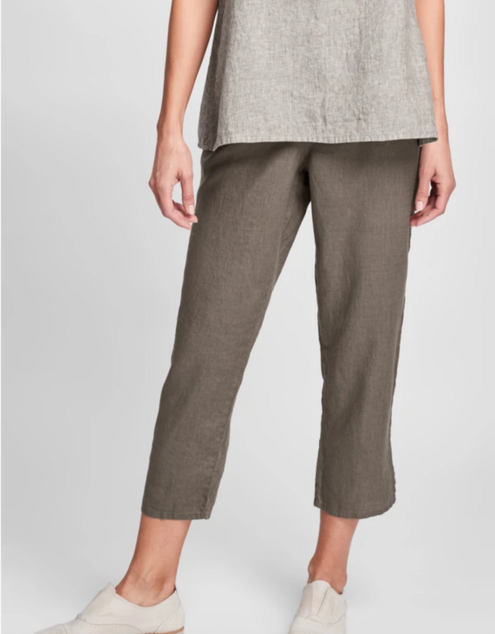 Flax Flax Pocketed Linen Ankle Pant Mink