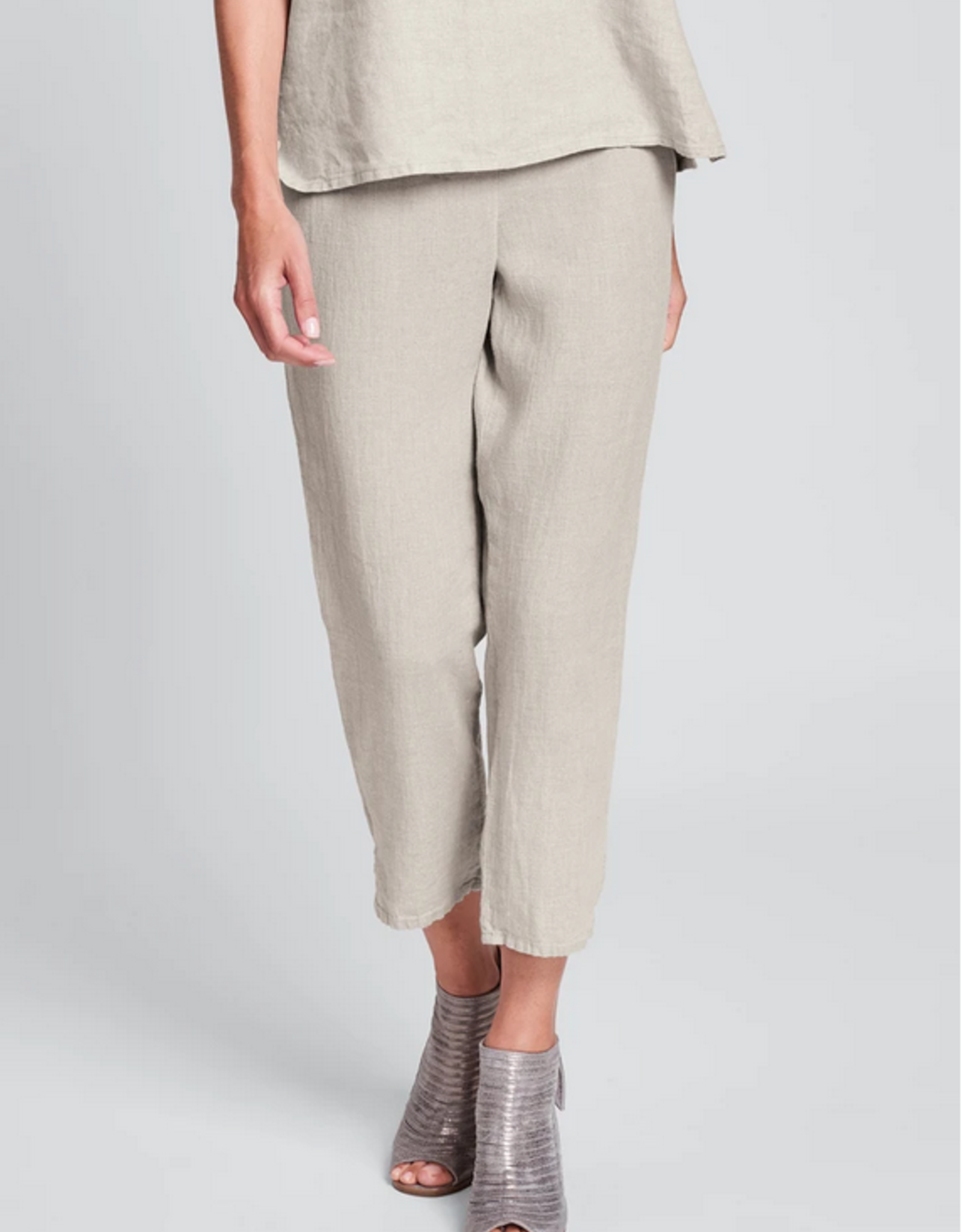 Flax Flax Linen Pocketed Ankle Pant 2 Colors