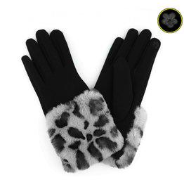 Gray Snow Leopard Gloves