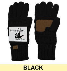 CC Black Knit Smart Gloves