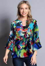 Ali Miles Abstract Print One Button Jacket